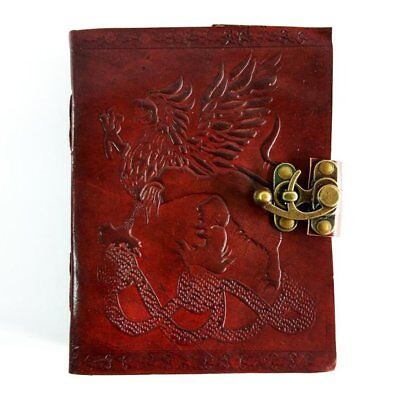 Rayite Dragon Stone Clssic Handmade Vintage Antique Looking Genuine Leather Gift
