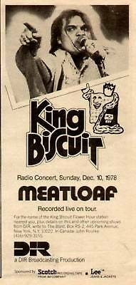 1978 Meatloaf Recorded Live In The King Biscuit Ad