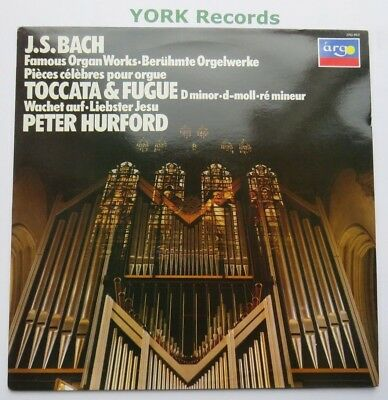ZRG 943 - BACH - Famous Organ Works PETER HURFORD - Excellent Con LP Record