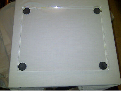Turntable Isolation Platform Clear Perspex Acrylic 445mmx350mmx10mm