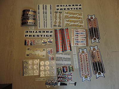 Beau lot d 'autocollants stickers ancien pour velo cyclisme VINTAGE Cycling bike
