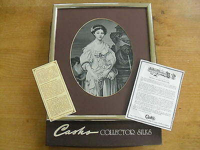 """Boxed Cash's/Neyret Freres Silk Le Cruche Cassee(after Greuze)>11 3/4"""" x 13 5/8"""""""