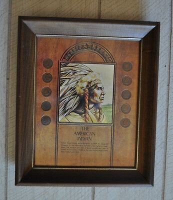 The American Indian Framed Coin Display Indian Head Penny