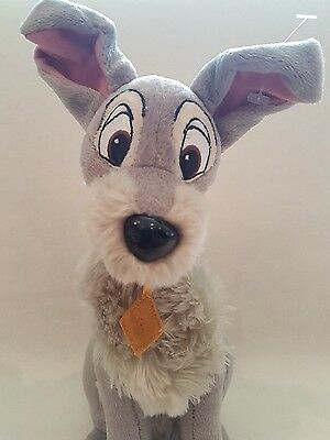 Lady and the Tramp Scamp soft toy Plush Disney 13""