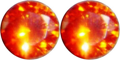 2 SAPPHIRE PADPARADSCHA ORANGE 6.00 mm. EACH LOOSE DIAMOND-SPARKLING HARDNESS 9