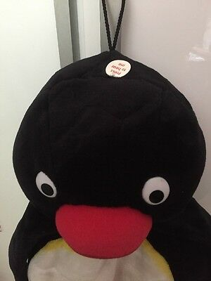 "Retro 19"" Pingu the Penguin Talking Soft Plush Toy Pj Case Hot Water Bottle Case"
