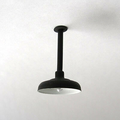 G-Scale Model Train Building/Depot/Station Ceiling Lamp/Light Black NEW