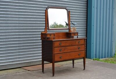 Edwardian Mahogany Dressing Table Chest of Drawers.