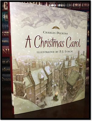 A Christmas Carol Color Illustrated by PJ Lynch New Unabridged Gift Hardcover