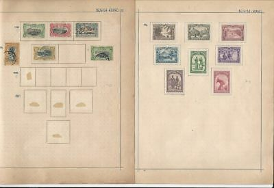Belgian Congo 1900 to 1932 on Two Album Pages
