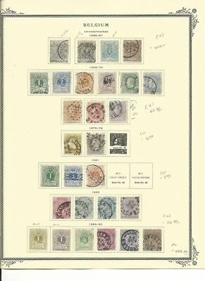 Belgium Collection 1866-1885 on Scott Specialty Page, SCV $459