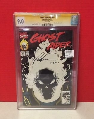 Ghost Rider #15 Marvel Comic Signed Mark Texeria CGC Graded 9.0 Glow In The Dark