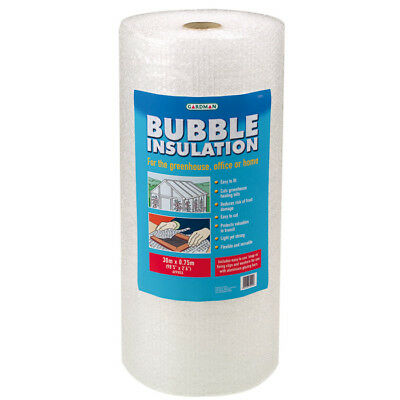 Gardman Greenhouse Bubble Insulation Kit with Clips - 30m x 0.75m