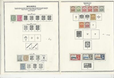 Bermuda Collection 1865-1969 on 7 Minkus Specialty Pages, British
