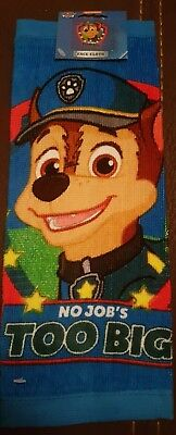 PAW PATROL - CHASE - Wash Flannel/Face Cloth - NICKELODEON - NEW