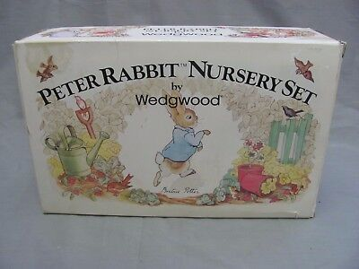 Wedgwood Peter Rabbit Nursery Set Plate Bowl Mug Great Condition