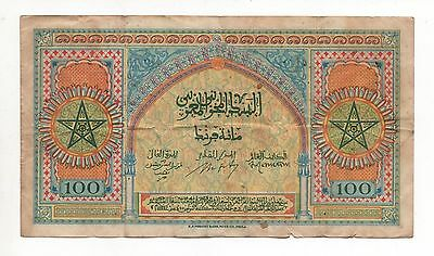 Morocco 100 Francs  Pick 27 Look Scans