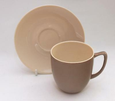 Branksome Pottery Poole  Cup and Saucer Glazed in Pixie Brown and Sahara