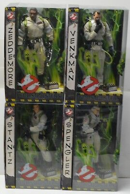 "GHOSTBUSTERS Mattel 12"" 1/6th scale Action Figure Set Peter Egon Ray Winston NIP"