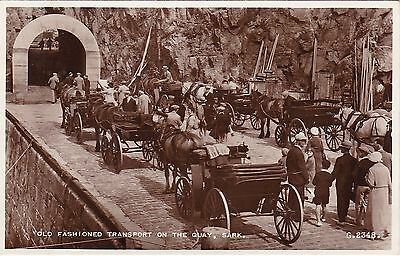Old Fashioned Transport On The Quay, SARK, Channel Islands RP