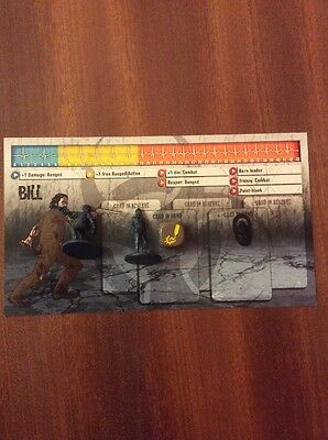 Zombicide Promo dashboard game night #3 Bill + figure survivor Zombivivor