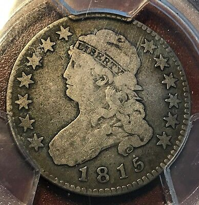 1815 Bust Quarter PCGS VG10 Perfect for Grade New Purchases CHN!