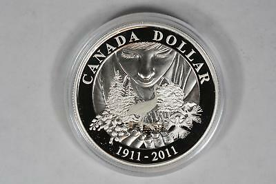 2011 Canada Conserving Canada's Parks Proof Silver Dollar 100 Years