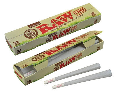 RAW Organic Pre-Rolled Cone King Size 109mm 32 per pack