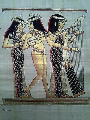 Hand Painted Egyptian Art On Papyrus, Number 29 New Ea