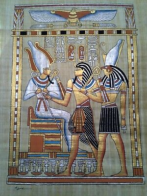 Hand Painted Egyptian Art On Papyrus, Number 25 New Ea