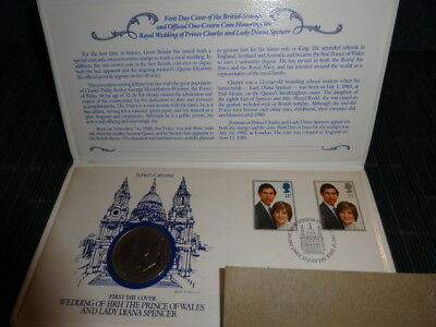 Prince Charles and Lady Diana Royal Wedding 1981 First Day Cover Stamps Coin Set