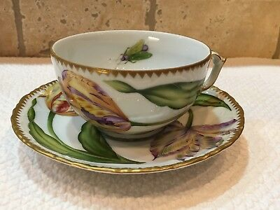 Anna Weatherley Pannonian Garden Double Tulips Cup & Saucer Set