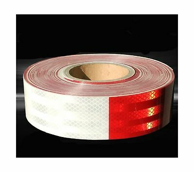 Moyishi Reflector DOT Tape Roll30PCS 9 Meters Red/White Caution Safety Warnin...