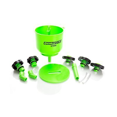 OEMTOOLS 87009 No-Spill Coolant Filling Plastic Funnel Kit Green