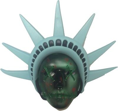 The Purge 3 Light Up Mask Movie EL Wire Election Year Halloween Costume LED UK