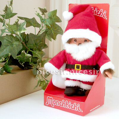 Sekiguchi Europe Monchhichi Xmas Santa Claus Costume Figure Doll Plush Toy