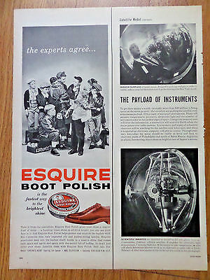 1956 Esquire Boot Polish Ad  The Experts Agree