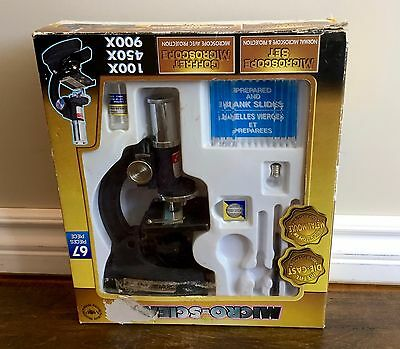 Micro Science Die Cast Microscope Metal Laboratory Quality Play Set In Box Rare