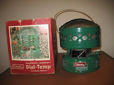 Vintage Coleman Model 513K Catalytic Heater With Box