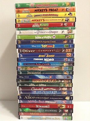 DVD Lot ! 27 Disney Animated Movies Toy Story 3 Hunchback Oliver Lilo Nemo Used