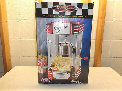 NOSTALGIA ELECTRIC Retro Series 50's Style Kettle Popcorn Popper~New!