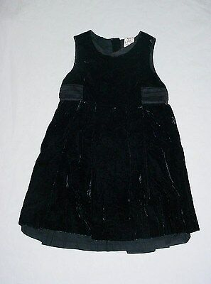 EUC Baby GAP Girls PICTURE THIS HOLIDAY COLLECTION Black Velvet Dress Size 3T