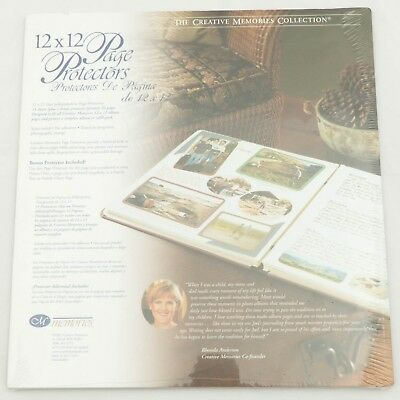 Creative Memories 12x12 Page Protectors NEW 16 Sheets 32 Pages Scrapbook