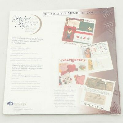 Creative Memories 12x12 Pocket Pages RCM-12P 5 Sheets Write in Space Scrapbook