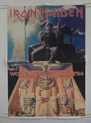 Vintage Poster Iron Maiden World Slavery Tour '84 Promo Advertisement 80's Music