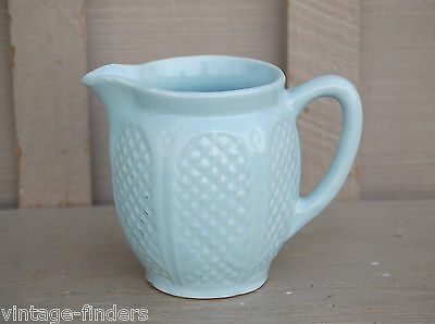 Old Vintage Robinson Ransbottom Stoneware Pottery Pitcher Tool Quilted Diamond