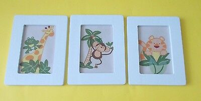Lot of 3 HOME MADE Socket Monkey Wall Art / Pictutre / Decor / Hanging