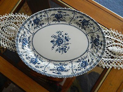 "Johnson Bros England ""Blue Indies"" Oval Plate"