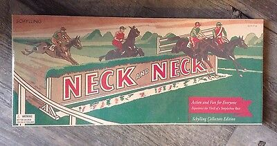 Schylling Tin Litho Neck & Neck Race Horse Game 2003 Reproduction