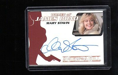 2014 James Bond Archives Mary Stavin auto card